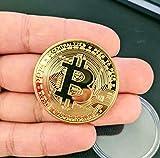Moneda Bitcoin de metal, moneda de colección cubierta con d