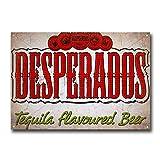 LORENZO Desperados Beer Vintage Metal Pintura Placa de Hierro Cartel de Advertencia Señal de Salón Cafe Bar Cerveza Club Fiesta Navidad Boda Decoración