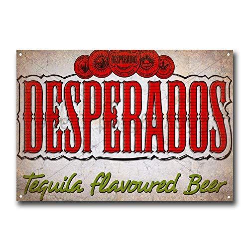 niet Desperados Bier Tin Metalen Teken Plaque Vintage Retro IJzeren Muur Waarschuwing Poster Decor Voor Bar Cafe Store Home Garage Office Hotel