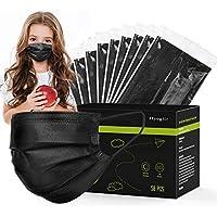 100-Pack Hyegiir 3 Ply Kids Black Disposable Face Masks