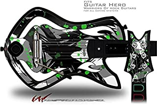 Abstract 02 Green Decal Style Skin - fits Warriors Of Rock Guitar Hero Guitar (GUITAR NOT INCLUDED)