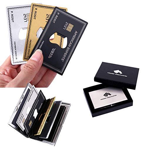Bier Geschenk - Männer-Kreditkarten, 3x Flaschenöffner aus Edelstahl in einem Kreditkartenetui, cooles Geschenk für alle Bierliebhaber, Geburtstagsgeschenk für Männer
