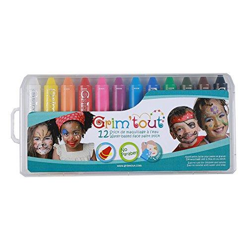 GRIM'TOUT-12 Sticks de Maquillage à l'eau pour Enfant, GT41883
