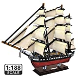 CubicFun 3D Puzzles USS Constitution Vessel Ship Model Building Kits for Adults and Kids, Stress Relief Decoration Hobby Gift for Men and Women 193 Pieces