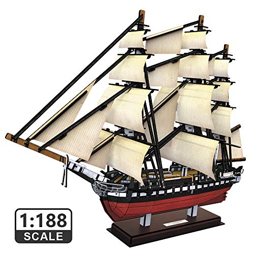 CubicFun Puzzles Navire 3D pour USS Constitution Modèles de Voiliers pour Adultes et Adolescents Jouets, 193 Pièces