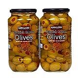 Kirkland Signature Pimento Stuffed Spanish Queen Olives 21 oz. Jars x 2 Jars...