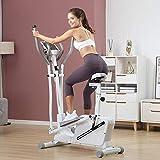 HAOYF - Máquina elíptica magnética para bicicleta de ejercicio, 3 en 1, giratoria, con espacio de asiento, para caminar, casa, gimnasio, equipo de fitness, portátil, pequeño, ultra silencioso