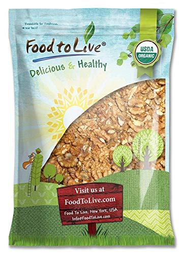 California Organic Walnuts, 5 Pounds - Non-GMO, No Shell, Kosher, Raw, Vegan, Sirtfood, Bulk