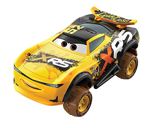 Disney Pixar Cars XRS Mud Racing Vehicle Assortment 1:55 scale Die-Casts, Real Suspensions, Off-Road, Dirt-splashed Design, All-terrain Wheels, Ages 3 and up