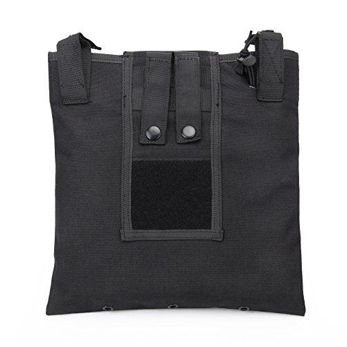 WorldShopping4U Tactical Recycle Bag per la Caccia Wargame Airsoft Molle Magazine Pouch BK