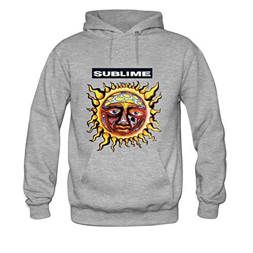 Sublime Mens hoody Sweatshirt M Grey