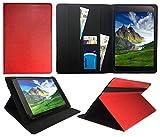 Wind Tab 10 Tablet PC 10.1 Pollici Rosso Universale Rotazione PU Pelle Custodia Case Cover ( 10 - 11 Pollici ) di Sweet Tech