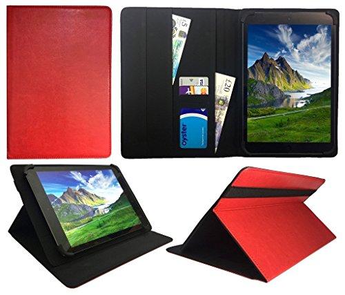 Archos 101 Platinum 3G Tablet / Diamond Tab ( 2017 ) 10.1 zoll Red Universal Wallet Hülle Cover Folio ( 10 - 11 zoll ) von Sweet Tech