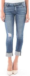 KUT from the Kloth Women's Catherine Boyfriend Wide Cuff Jeans in Palpable