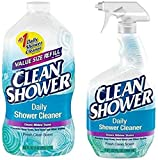 Bundle includes 1x 32oz. Spray Bottle & 1x 60oz. Refill Bottle! Specially formulated for scrub free cleaning! Use this to regularly clean your shower and tub for amazing results! No harsh fumes! Safe for septic!