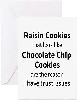 CafePress Raisin Cookies That Look Like Chocolate Chip Cooki Greeting Card, Note Card, Birthday Card, Blank Inside Matte