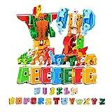 Wqzsffgg 26 Alfabeto Transformers Robot Juguete, Juego de Robot de Juguete para Niños ABC...