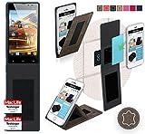 Hülle für Archos 50 Neon Tasche Cover Hülle Bumper | Braun Wildleder | Testsieger