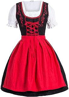 Ronshin Dress Women Embroidered Oktoberfest Festival Apron Dress Cosplay Suit