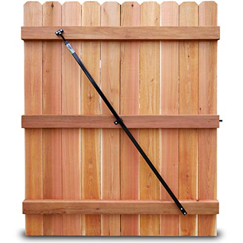 True Latch Gate Brace - Wood Privacy Fence Anti Sag Gate Kit - Gate Hardware Kit - for Outdoor Yard Wooden Fence Gates, 1 Patented USA Made Gate Brace (The Original: 1 Main Body 64