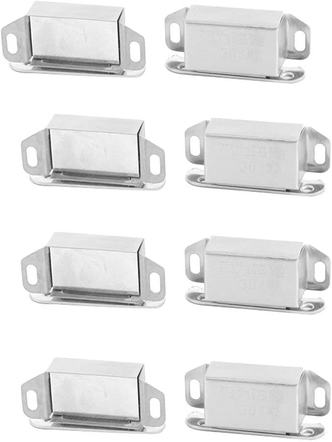 Stainless Steel Home Door Wardrobe Closet Stopper Holder Magnetic Catch Latch 8pcs