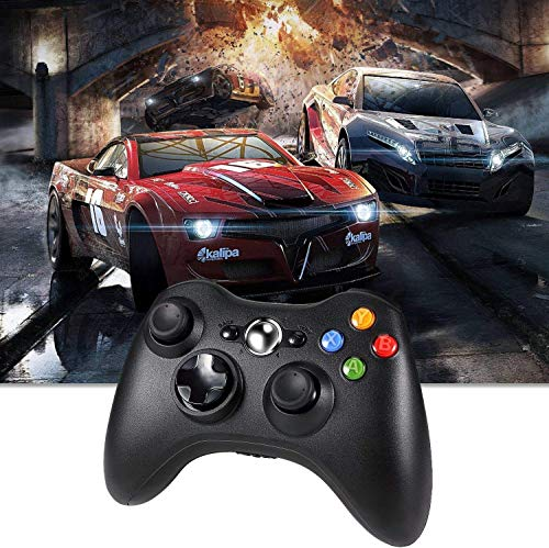 Xbox 360 Wireless Controller, 2.4GHZ Xbox Game Controller Wireless Remote 360 Controller Gamepad Joystick for Microsoft Xbox 360 Slim and PC with Windows 7/8/10 (NOT for Xbox ONE), Black