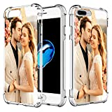 AIPNIS Coque Téléphone Personnalisée Compatible avec iPhone 7 Plus / 8 Plus, Photo ou Texte...
