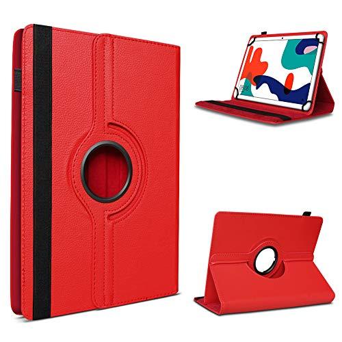 UC-Express - Custodia per tablet Huawei MatePad T10, 9,7 pollici, con rotazione a 360°, colore: Rosso