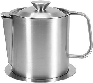 HelloCreate - Colador de sopa de aceite para cocina, mango de acero inoxidable, filtro de sopa de aceite, separador de olla, colador
