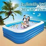 ARTF Piscinas de la familia Splash Jardín infantil al aire libre de verano autoensamblaje niños piscina inflable de gran tamaño 305x185x72cm inflable cuadrado de la preservación del calor piscina fies