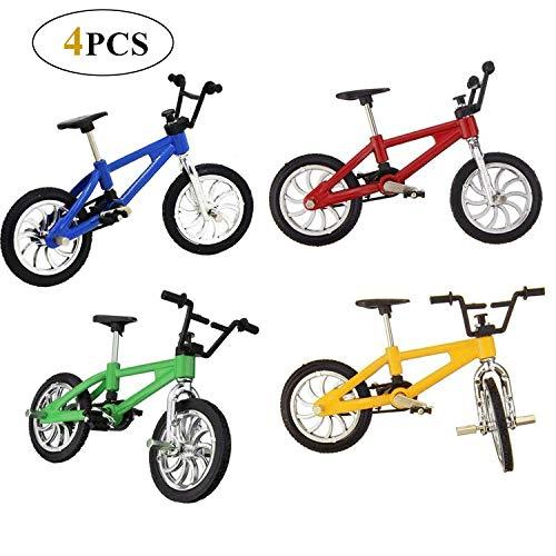 Reastar 4 Stück Finger Fahrrad Mini Fahrrad Spielzeug Legierung Finger Mountainbike Modell Ornamente BMX Fahrrad Kugel Modell Bike Gadgets
