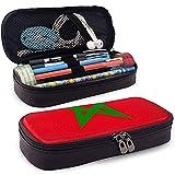 Estuche de lápices original de la bandera de Marruecos - Bolso de cuero de PU de alta capacidad Organizador de papelería Bolso de maquillaje cosmético