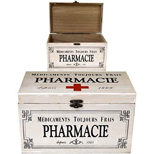 Maison Des Cadeaux US301 Apothekenbox, Holz, französischer Stil, Vintage-Stil