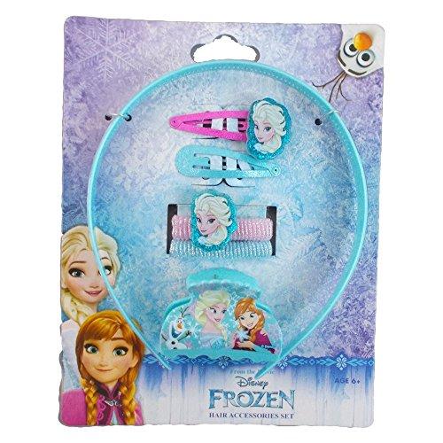 Disney Reine des Neiges Blister Accessoires De Cheveux 12 pièces, WDFR0280