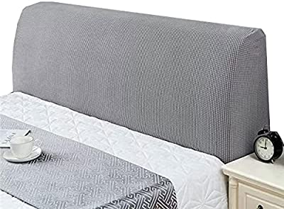 Headboard Slipcover Double Single Bed Blue Light Grey Bed Headboard Cover Bed Head Cover Double Stretch Headboards Cover Headboard Protection Cover Bedroom Decoration Headboards Backrest