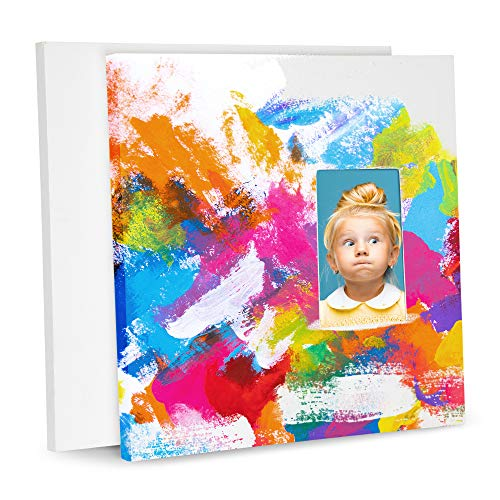 Premium Arts and Crafts canvasses for Painting for Kids, Picture Frame mom Craft Paint Boards kits Sets, White Art canvases for Fathers & Mothers Day Gifts Toddler Canvas Panels Art Supplies Board Set