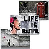 GREAT ART 3er Set XXL Poster – Life is Beautiful –