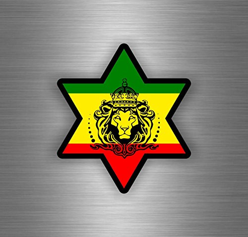 Akachafactory Selbstklebend Sticker Auto Rasta Reggae One Love Löwe Jamaikanische Flagge ref19
