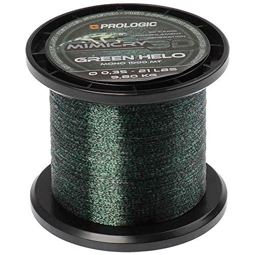 Prologic Mimicry Green Helo 1000m grün - Karpfenschnur zum Angeln auf Karpfen, Angelschnur zum Karpfenangeln, Monofile Schnur, Durchmesser/Tragkraft:0.40mm / 29lbs / 13.2kg Tragkraft