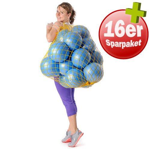 Togu Redondo Gymnastikball, - Blau 16er Set inkl. Ballnetz