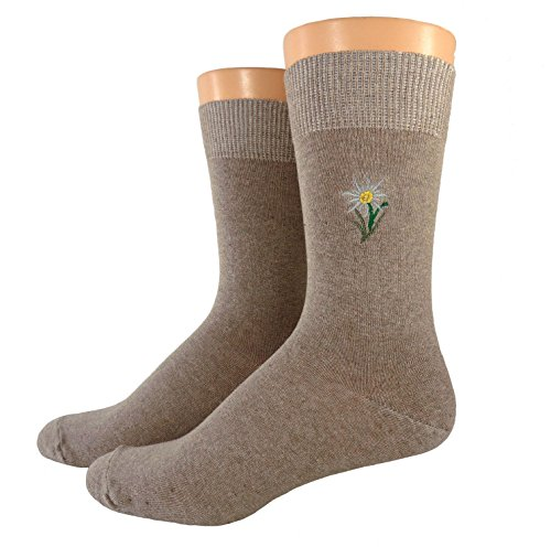 Shimasocks Damen/Herren Socken bestickt, Farben alle:beige, Größe:39/42
