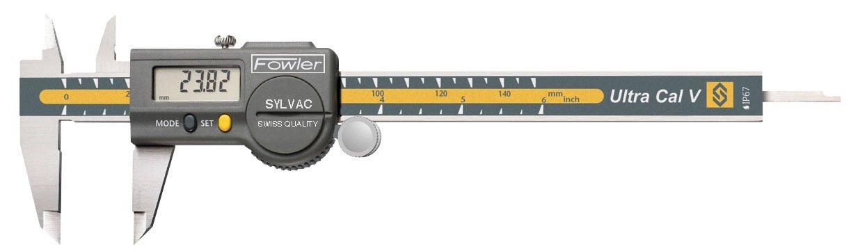 Fowler Stainless Steel Ultra-Cal V Electronic Caliper, 54-100-06