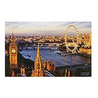 ロンドンアイウェストミンスター橋美しい風景キャンバス絵画壁アートポスターとプリントリビングルームの写真家の装飾キャンバスに印刷50x70cmフレームなし
