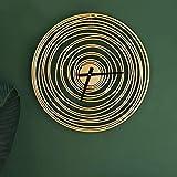 WANGXINQUAN Reloj de pared nórdico para sala de estar, moderno arte salón, dormitorio, 49 x 49 cm