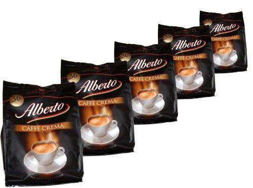 Alberto Kaffee Crema Pads, 252g, 5er Pack (5 x 252g)
