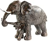 Seraphic Mother Elephant with Walking Baby Statue