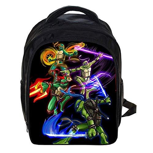 Canvas Rucksack für die Schule Leicht Teenage Mutant Ninja Turtles Büchertasche für Kinder Grundstufe Schultaschen für Jungs 12,99 * 5,7 * 9,44 Zoll,I