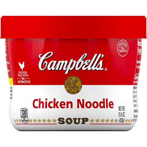 Campbell's Chicken Noodle Soup Microwavable Bowl, 15.4 oz. (Pack of 8)