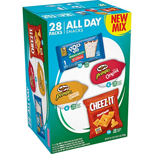 CheezIt Kellogg#039s All Day Snacks Variety Pack Grab #039N#039 Go 325oz 28 Count