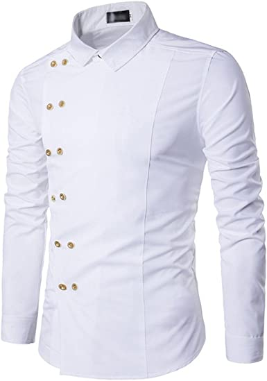 Usopu Camisa de Manga Larga de Color Sólido con Detalle ...